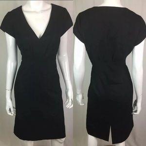 J. Crew Wool Stretch V-Neck Sheath Dress